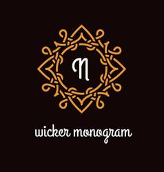 wicker monogram vector image