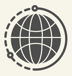 world solid icon planet vector image