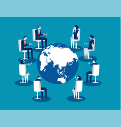 worldwide conference business person meeting vector image