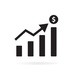 chart icon on white background chart sign vector image vector image