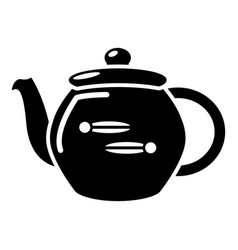 kettle household icon simple black style vector image
