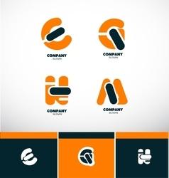 Letter logo icon set alphabet vector image