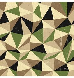 retro triangles background vector image vector image