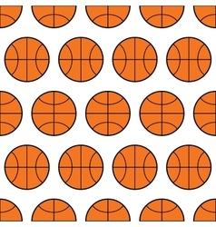 Seamless pattern of basketball sports balls vector