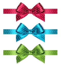 Shiny satin ribbon on white background vector image