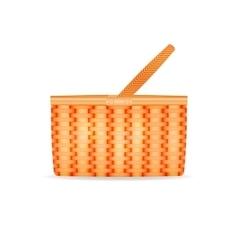 a wicker basket vector image
