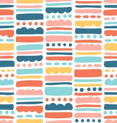 Abstract pattern with stripes and dots vector image vector image