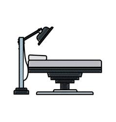 drawing bed medical examination healthy vector image