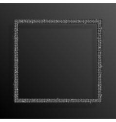 Frame Silver Sequins Square Glitter sparkle vector image vector image