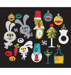 misc characters vector image vector image