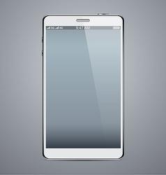 Realistic white smartphone vector image