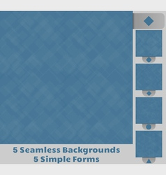 Seamless Square Backgrounds vector image vector image