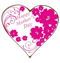 swirl heart mothers day vector image