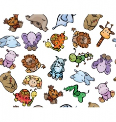 animals pattern vector image