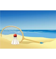 Badminton summer game vector image vector image