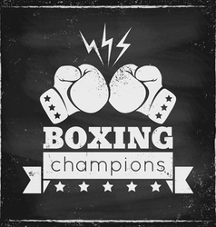 boxing chalk vector image vector image