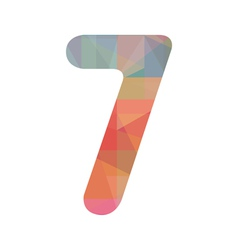 Colorful number seven vector image