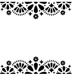 mexican folk wedding or party invitation vector image