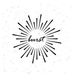 vintage burst light rays vector image