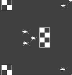 cockroach races icon sign Seamless pattern on a vector image