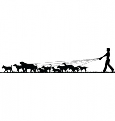 female dog walker vector image