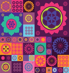 magic violet lotos design vector image vector image