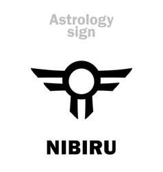 Astrology rogue planet nibiru vector