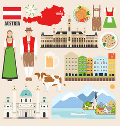 austria symbols collection vector image