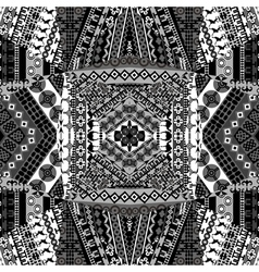 Background with mosaic of African black and white vector image
