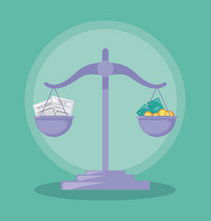 Balance finance economy isolated icon vector