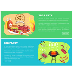 bbq party collection websites vector image