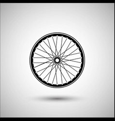 Bicycle wheels accessories icon vector