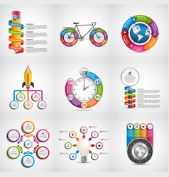 Big collection infographics design elements vector