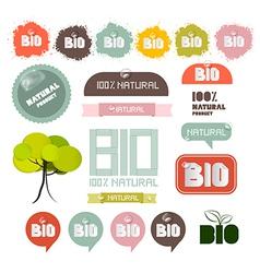 Bio - Natural Product Green Labels - Tags vector image