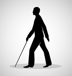 Blind man vector