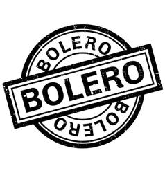 Bolero rubber stamp vector