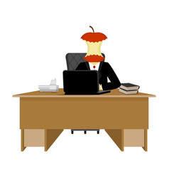 Boss apple stump director stub of table executive vector