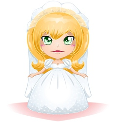 Bride Dressed For Her Wedding Day 3 vector