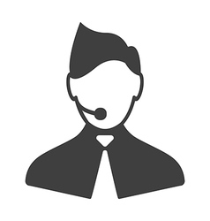 Call center man icon vector image