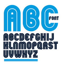 Capital bold english alphabet letters made with vector
