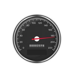 car speedometer black vector image