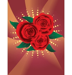 Card with red roses2 vector image vector image
