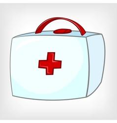 Cartoon home medical kit vector
