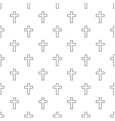 Catholic cross pattern seamless vector