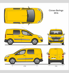Citroen berlingo l1 2016 professional combi van vector