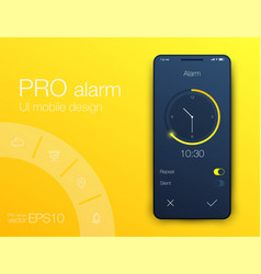 clock application ui design concept eps 10 vector image