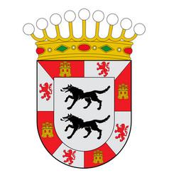 Coat arms cuadrilla de ayala in basque vector