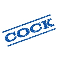 Cock Watermark Stamp vector