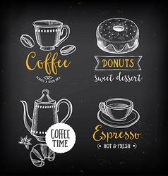 Coffee restaurant cafe menu template design vector image