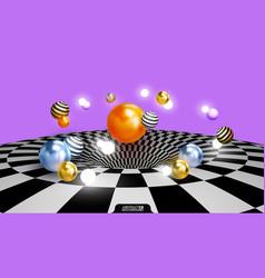 Colored decorative balls abstract 3d vector